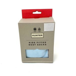 Hunter Fitted Boot Socks Boat Blue Kids New In Box